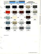 1986 PORSCHE IMPORTED CAR PAINT CHIPS PPG