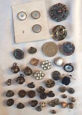 ANTIQUE BUTTONS JOB LOT VERY OLD VINTAGE BUTTONS & ANTIQUE BUTTONS,40 ITEMS LOT