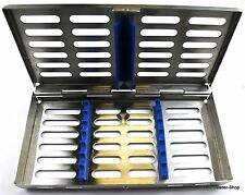Sterilisation Cassette Rack Tray Surgical Dental 7 instruments NATRA Germany