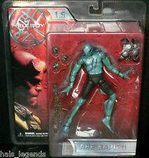 "HELLBOY 1,5 bataille endommagé ABE Sapien new! rare! mezco 8 ""scale action figure"