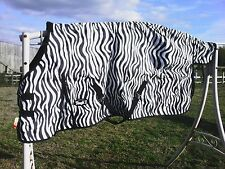 "81"" zebra 1200 D Tough 1 med/heavyweight waterproof horse turnout blanket"