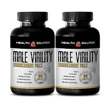 Sexuales - MALE VIRILITY Organic Enhancement Pills Tribulus Maca 2 Bottles