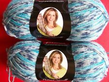Premier Serenity wool/bamboo sock yarn, Indigo, lot of 2 (230 yds each)
