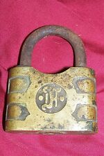 "Old Unknown Padlock Vintage 3"" Heavy Lock Collector Collectible Gate Mystery"