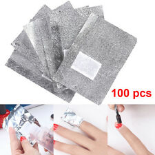 100x  Easy Nail Art Remover Foil Wraps Soak Off Gel Acrylic Gel Polish Xmas Gift