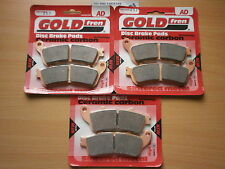 HONDA XL 1000 VARADERO *ABS* 2010   FRONT & REAR SINTERED BRAKE PADS *GOLDFREN*
