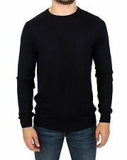 NWT $300 Gianfranco GF FERRE Black Knitted Wool Blend Pullover Sweater s. M