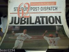 19pcLOT ST. LOUIS POST-DISPATCH SEPTEMBER 9 1998 MARK McGWIRE PASSES ROGER MARIS