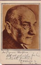 PORTRAIT  INSCRIBED and SIGNED by Polish-American artist MAURICE FROMKES