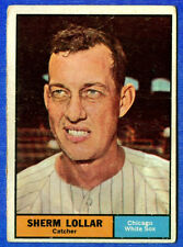 1961 Topp  SHERM LOLLAR  (Chicago White Sox) Card # 285 (gd)