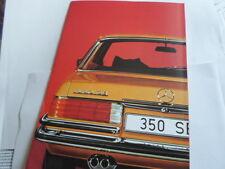 Prospekt  Benz W 116 280 350 S SE  S-Klasse Autohaus Bald