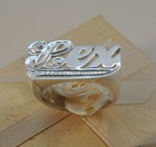 New Name Ring Personalized Sterling Silver Any Name *First & Tail Bit Work* USA