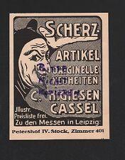 KASSEL, Werbung 1931, C. H. Giesen Scherz-Artikel Karneval
