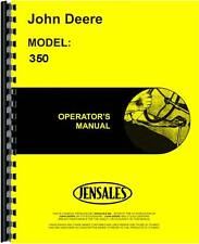John Deere 350 Crawler Operators Manual