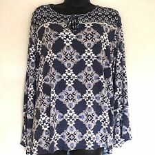 BNWT George Floral Blue Top with Flared Cuffs Size 18 RRP £10
