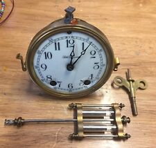 Antique Seth Thomas crystal regulator clock parts . Movement / dial / pendulum