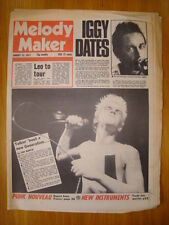 MELODY MAKER 1977 AUG 13 IGGY POP LEO SAYER PUNK DAMNED