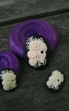 SUGAR SKULL TRIO MOLD Set Cameo Silicone  mold polymer clay resin  sugar craft
