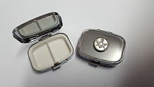 Masonic PP-G25 English Pewter Emblem Rectangular Travel Metal Pill Box