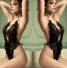 1PC Sexy Lingerie Women Lace Sheer Babydoll Sleepwear Dress G-string Underwear