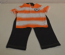 Carter's Boys' 2PC Pants Outfit-ORANGE STRIPE EXPLORER-4T-NWT