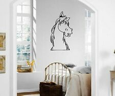 Wall Stickers Vinyl Decal Funny Animal Horse For Kids Nursery ig1453