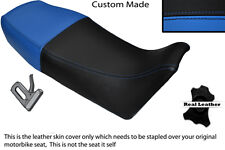 BLACK& LIGHT BLUE CUSTOM FITS YAMAHA RD 350 YPVS F2 1989 LEATHER DUAL SEAT COVER