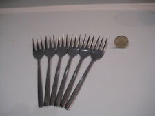 VINTAGE VINERS SHEFFIELD  LOVE STORY 6 CAKE PASTRY FORKS STAINLESS STEEL