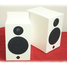 "YPL Audio B Series BR High Gloss WHITE 2 Way 4"" Bookshelf Speakers NEW PAIR"