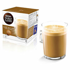 Dolce Gusto Cafe au Lait Coffee (3 Boxes,Total 48 Capsules ) 48 Servings