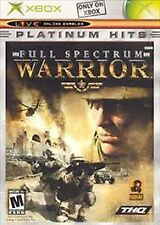 Full Spectrum Warrior  (Microsoft Xbox, 2005) NOT PLATINUM HITS