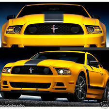 Car Dual Racing Stripe Hood Decals for Mustang Vinyl stickers #934 Black