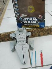 STAR WARS TRANSFORMERS  DARTH VADER TO STAR DESTROYER lights and sounds
