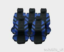 FULL SET 5X BLUE SEAT COVERS CUSHION FOR 5 SEATER PEUGEOT 307 SW 806 807 PARTNER