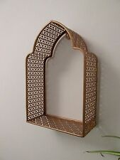 Copper Morrocan Wall Frame Metal Shelf Display Storage Shabby Chic Vintage Style