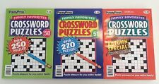 Lot of 3 Family Favorites Crossword Puzzles FAST SHIP Penny Press DELL JUMBO