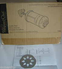 The Pampered Chef Cookie Press 1526 Replacement Part Only Metal Disc 2 Sun Burst