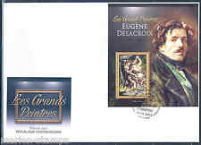 CENTRAL AFRICA 2012 EUGENE DELACROIX  SOUVENIR SHEET FIRST DAY COVER