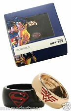 WONDER WOMAN AND SUPERMAN RING SET~DC COMICS BATMAN~SIZES 7 AND 10 FREE SHIP