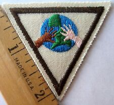 Retired Girl Scout Brownie AROUND THE WORLD TRY-IT Earth World Friendship Patch