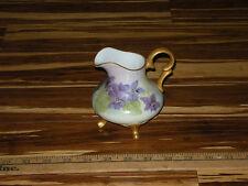 Hazel O' Rourke Ceramic Art Pottery Porcelain Creamer - Gold Leaf & Blue Violet