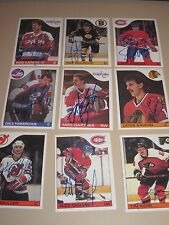 LOT OF 17 DIFFERENT AUTOGRAPHED 1985 TOPPS HOCKEY CARDS-LOADED LOT-HOF