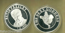 ELVIS PRESLEY & THE SEXY GODESS SILVER COLLECTOR COIN