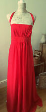 Stunning Scarlet Red Dress - full length, empire style, Size 20 , brand new