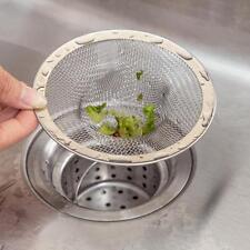 New Home Kitchen Sink Drain Strainer Stainless Steel Mesh Basket Strainer A