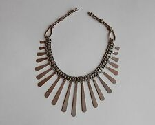 North African Berber silver vintage Morocco statement necklace, handmade