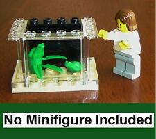 LEGO Custom Small Frog Aquarium Animal Pet Shop Miniature Doll House Office Toad