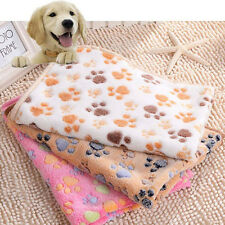 1 PCS  Brown Pet Doggy Dog Blanket Cat Mat Paw Print  Warm Bed Mat Blankets