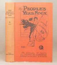 1928 THE PEOPLE'S YEAR BOOK Annual of Facts ENGLISH & SCOTTISH WHOLESALE SOCIETY