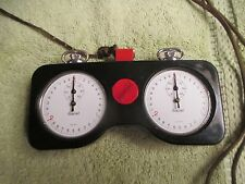 Vintage 1950s Gallet Indy 500 Race Official's Dual Timer - Champion - Stop Watch